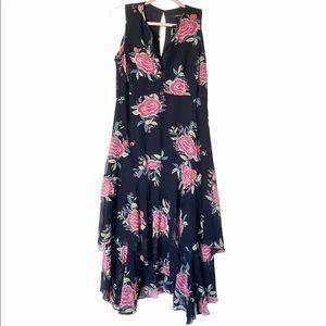 Nanette Lepore Silk Floral Midi Tank Dress